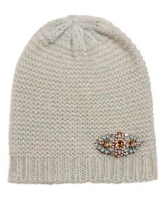 Another great find on #zulily! Mint Bead-Embellished Knit Beanie by David & Young #zulilyfinds