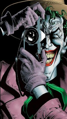 Batman: the Killing Joke Print 1988 DC Comics Alan Moore, Brian Bolland - Classic Cover and Origin of Oracle - Joker paralyzes Barbabra Gorden Art Du Joker, Le Joker Batman, Joker And Harley Quinn, Joker Comic, Batman Art, The Joker, Gotham Batman, Comic Book Characters, Comic Books Art