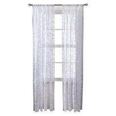 "Threshold™ Botanical Burnout Sheer Curtain Panel - Purple (54x84"")"