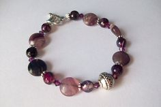 Amethyst Collection Bracelet with Celtic by littleofthislilothat, $15.00