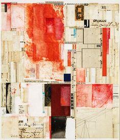 William Dole, born Angola, IN 1917-died Santa Barbara, CA1983.  collage on paper.   1974. Smithsonian.