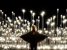 LEDscape Installation by LIKEarchitects Lisbon | Installation works with light as a constructive element of space and landscape