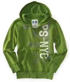 Kids' PS-NYC Eastern Zip-Front Hoodie - PS From Aeropostale