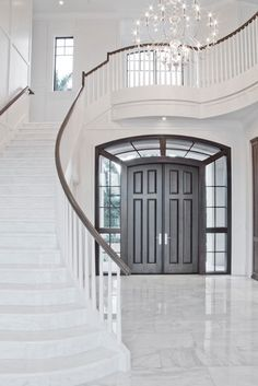 St. Andrews Country Club traditional staircase...but check out that door!!