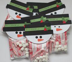 Snowman hot cocoa treats!!