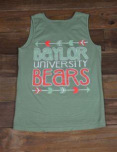 Baylor University Bears Comfort Color tank top