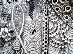 Here is my first attempt at the very addictive Zentangle.