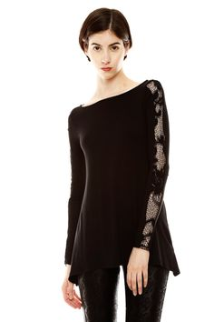 I like the length of this Lace Trim Tunic