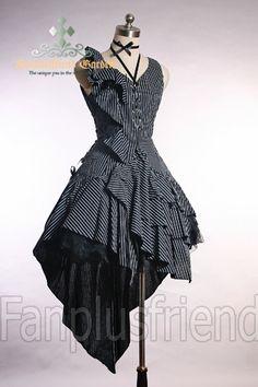 Elegant Gothic Bias Dark Princess Dress*Instant Shipping