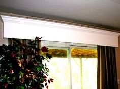 Learn how to build a wooden window valance from HGTV experts and add instant dimension to a window or sliding-glass door.