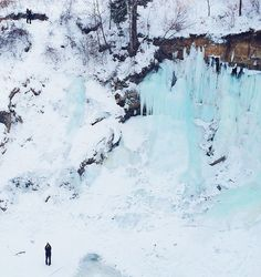 Minnehaha Falls. January 2014. #onlyinMN