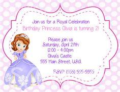 Sofia the First Birthday Party Invitation digital by JayJDesign, $7.00