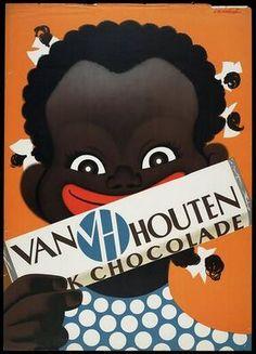 Van Houten Chocolade -  1952.   Chocolate Ad Van Houten - The Netherlands.