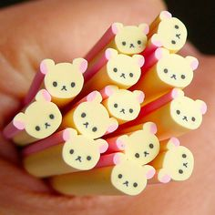 Bear Polymer Clay Cane Animal Fimo Cane Kawaii by MiniatureSweet, $1,20