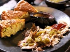 Corn Torte with Red and Green Chile Sauce from CookingChannelTV.com