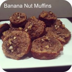 Melt in your mouth banana nut muffins made with coconut flour. Crazy good and Good for you. Naturally sweetened. Gluten Free and Paleo!