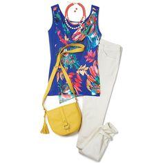 Palm-Printed Tank   Avon #Fashion  Visit my online store @ www.youravon.com/amartinez8866