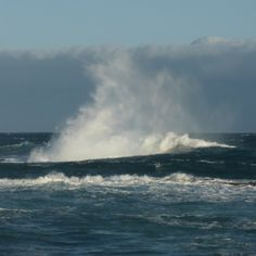 Waves pounding the reef near the breakwater #waves #surf #sea #sky #rocks #coast #Warrnambool #Australia #greatoceanroad # destinationwarrnambool by bobh1950