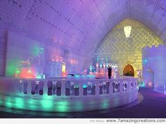 48 epic dream hotels to visit before you die - Hotel de Glace, Quebec, Canada Ubud Hanging Gardens, Burj Al Arab, Places Around The World, The Places Youll Go, Around The Worlds, Lappland, Best Honeymoon Destinations, Dream Vacations, Travel Destinations