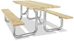Steel Frame Picnic Table in Stock - ULINE