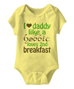Urs Truly Banana 2nd Breakfast Bodysuit - Infant | zulily