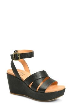 Free shipping and returns on Kork-Ease® Amber Wedge Sandal (Women) at Nordstrom.com. A lofty platform wedge enhances the retro-chic appeal of a strappy sandal fashioned with a signature comfort-centric footbed.