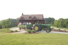 Is there anything better on a brisk autumn day than a hayride with friends?  Maybe a great meal? We have that, too.