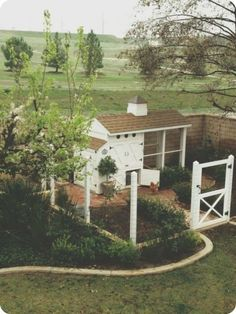 landscaped chicken coop