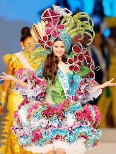 Dominican Republic's costume for a beauty pageant! Very colourful!