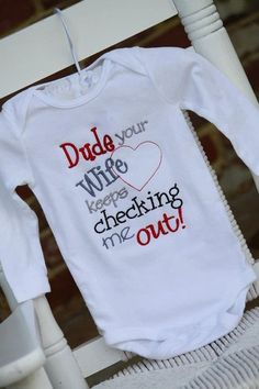 Baby Boy Onesie -- onesie with funny saying -- great baby shower gift -- long or short | http://diy-gift-ideas-ara.blogspot.com