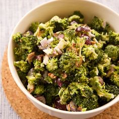 May 2013 - Colleen's Broccoli Salad-This is awesome but I put dried cranberries instead of grapes and make sure the almonds are toasted Vegetable Dishes, Vegetable Recipes, I Love Food, Good Food, Yummy Food, Brocolli Salad, Great Recipes, Favorite Recipes, Salad Recipes