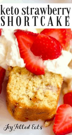 Christy says it is excellent! KETO Strawberry Shortcake - Sugar-Free, Low Carb, Gluten Free, THM S. This is the ideal dessert for strawberry season. Sweet strawberries baked right in to a rich golden pound cake. Low Carb Sweets, Low Carb Desserts, Low Carb Recipes, Dessert Recipes, Dinner Recipes, Breakfast Recipes, Protein Recipes, Lunch Recipes, Free Recipes