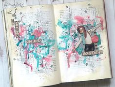 Hello everyone!       Today I would like to show you my last mixed media art journal page made for ScrapArt.cz .    I applied white gesso t...