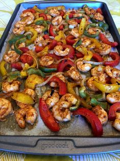 Keto Sheet Pan Shrimp Fajitas These keto shrimp fajitas are amazing! Baked in the oven on a sheet pan and ready in 15 minutes! Look at these mouthwatering shrimp fajitas! Seasoned with Taco seasoning and baked on a sheet pan to perfection, Shrimp Tacos, Shrimp Fajitas, Steak And Shrimp, Baked Shrimp, Grilled Shrimp, Shrimp Taco Seasoning, Shrimp Fajita Recipe, Shrimp Recipes, Keto Recipes
