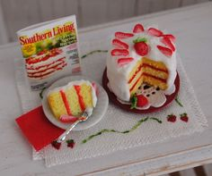 Miniature Strawberry Shortcake With Strawberry Slices On Top