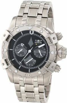 Invicta Men's 1744 Aviator Chronograph Black Dial Stainless Steel Watch Invicta. $192.82. Water-resistant to 100 m (330 feet). Flame-fusion crystal; brushed and polished stainless steel case and bracelet. Japanese quartz movement. Chronograph functions with 60 second, 60 minute and 24 hour grey subdials; date function. Black dial with black and white hands and white hour markers; luminous; unidirectional bezel; invicta key chain included