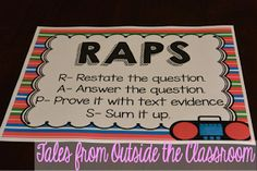 RAPS- An acronym for teaching students to restate the question in the answers.