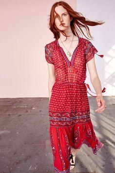 Neela Dress - Scarlet