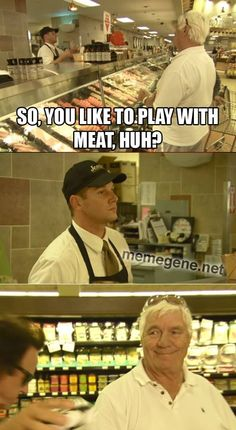 Pat Patterson Hitting On Deli Guy. That poor deli guy. He was trying so hard to be professional. #LegendsHouse #WWE