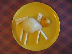 Horse Fruit and Cheese Plate - a healthy snack for your Horse Theme Day. Kid Snacks, Healthy Snacks, Theme Days, Horse Crafts, Horse Farms, Future Classroom, Preschool, Letter, Teacher