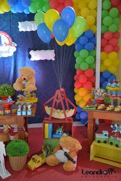 Festa brinquedos de meninos