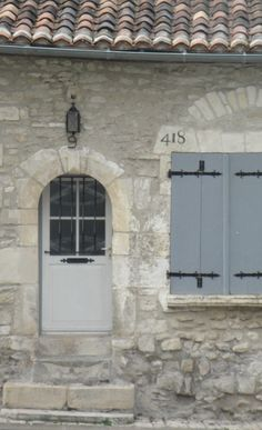 Cognac France love stone shutters and roof