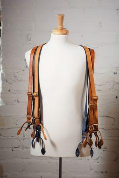Leather Suspenders, Wedding Suspenders