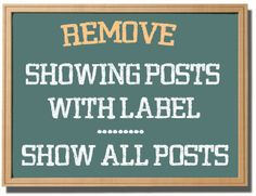 Guru Of Tips: Reason Why You Should Remove Showing posts with la...