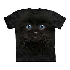 Black Kitten Face T-Shirt Adult now featured on Fab. For Nancy?