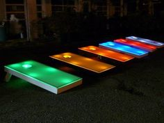 Lighted Cornhole Boards w/ bags
