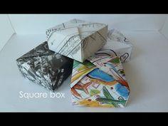 Doosjes vouwen van oude tijdschriften - YouTube