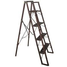 1stdibs | Antique American Folding Metamorphic Ladder