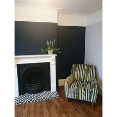 Find your perfect feature wall tile. Black And White Tiles, Black White, White Lounge, White Fireplace, Industrial Farmhouse, Home Remodeling, Tile Floor, Dining Room, Homes
