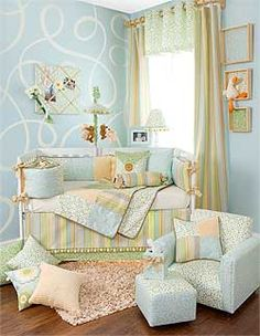 simple and elegant nursery - pretty colors